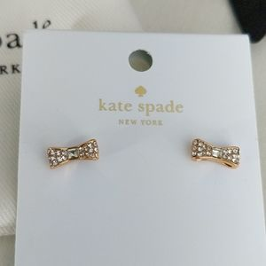 NWT Kate Spade ♠️ Gold Bow Earrings
